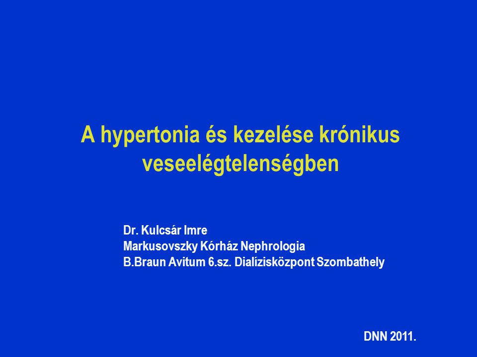 krónikus hipertónia terápia