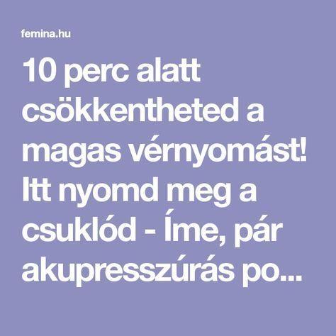 magas vérnyomás és akupunktúrás pontok)