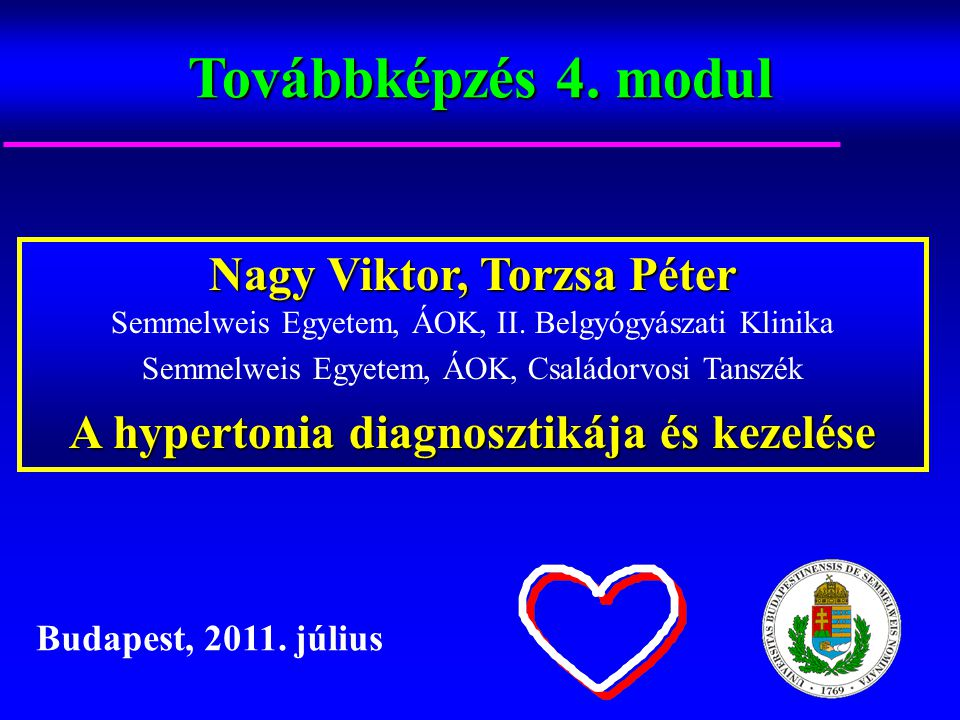 hipertónia kezelésének tanulmányozása)