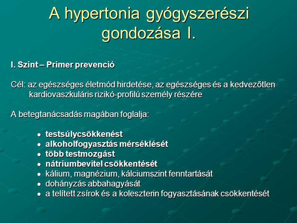 a hipertónia kísérleti projektjéről