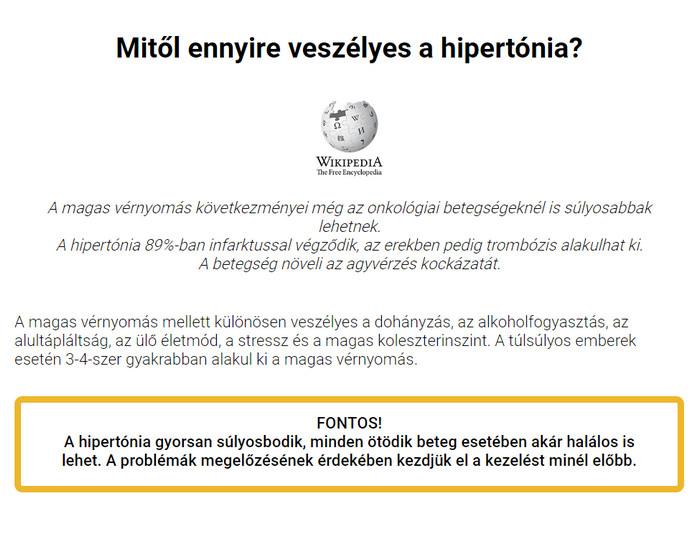 hipertónia fórum kezelése)