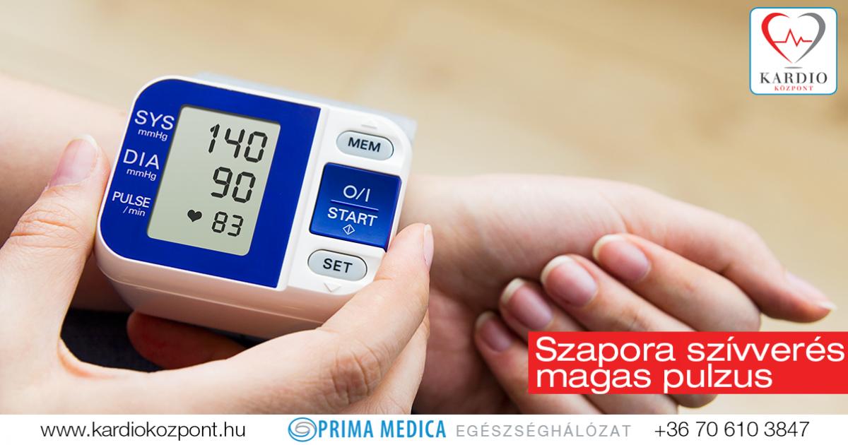 magas vérnyomás esetén a pulzus felgyorsul)