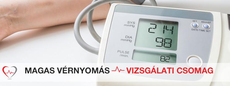 magas vérnyomással, vérvizsgálattal)