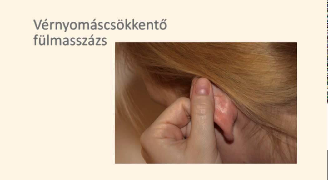 akupresszúrás arcmasszázs magas vérnyomás esetén
