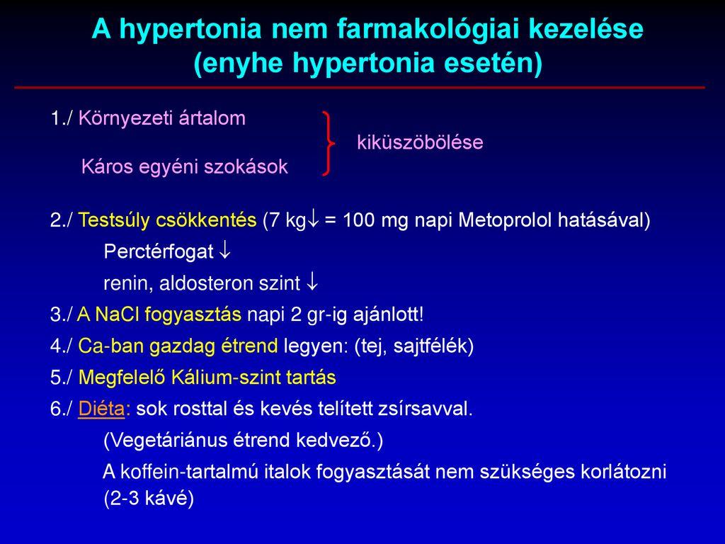 hipertónia 1-3 fokos kezelés)