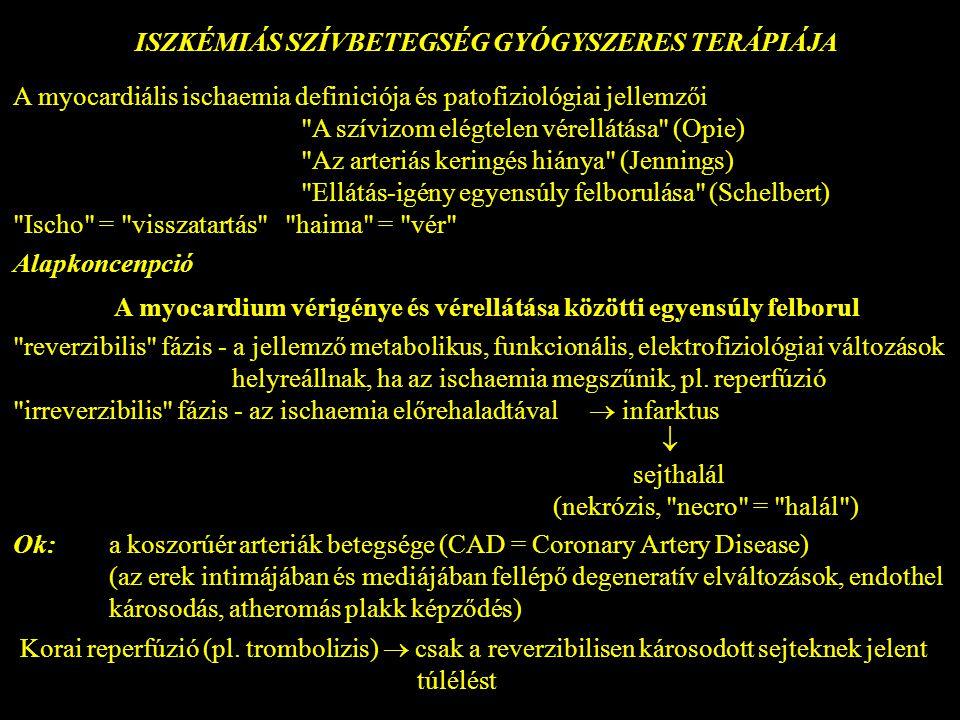 iszkémia és magas vérnyomás elleni gyógyszerek)