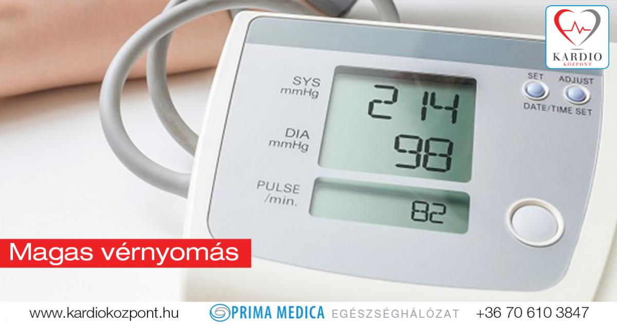a magas vérnyomás kezdi a tennivalót