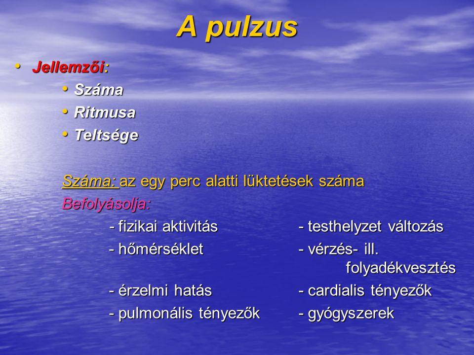 pulzus jellemzői magas vérnyomásban)