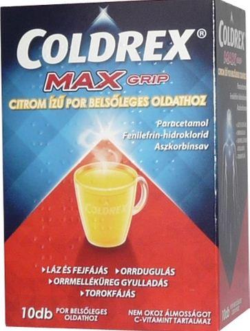 coldrex magas vérnyomás esetén