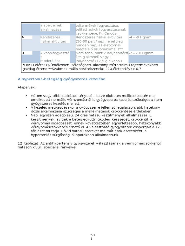 hipertónia 1-3 fokos kezelés